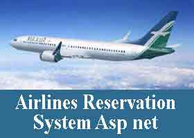 Airlines Reservation System Asp net Project