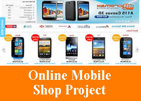 135 - Online Mobile Phone Shop Project on Asp - MCA BCA