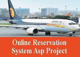 Online Reservation System Asp Project