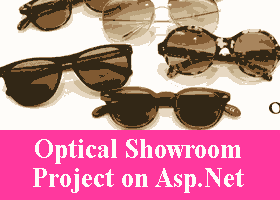 Optical Showroom Project on Asp Net VB